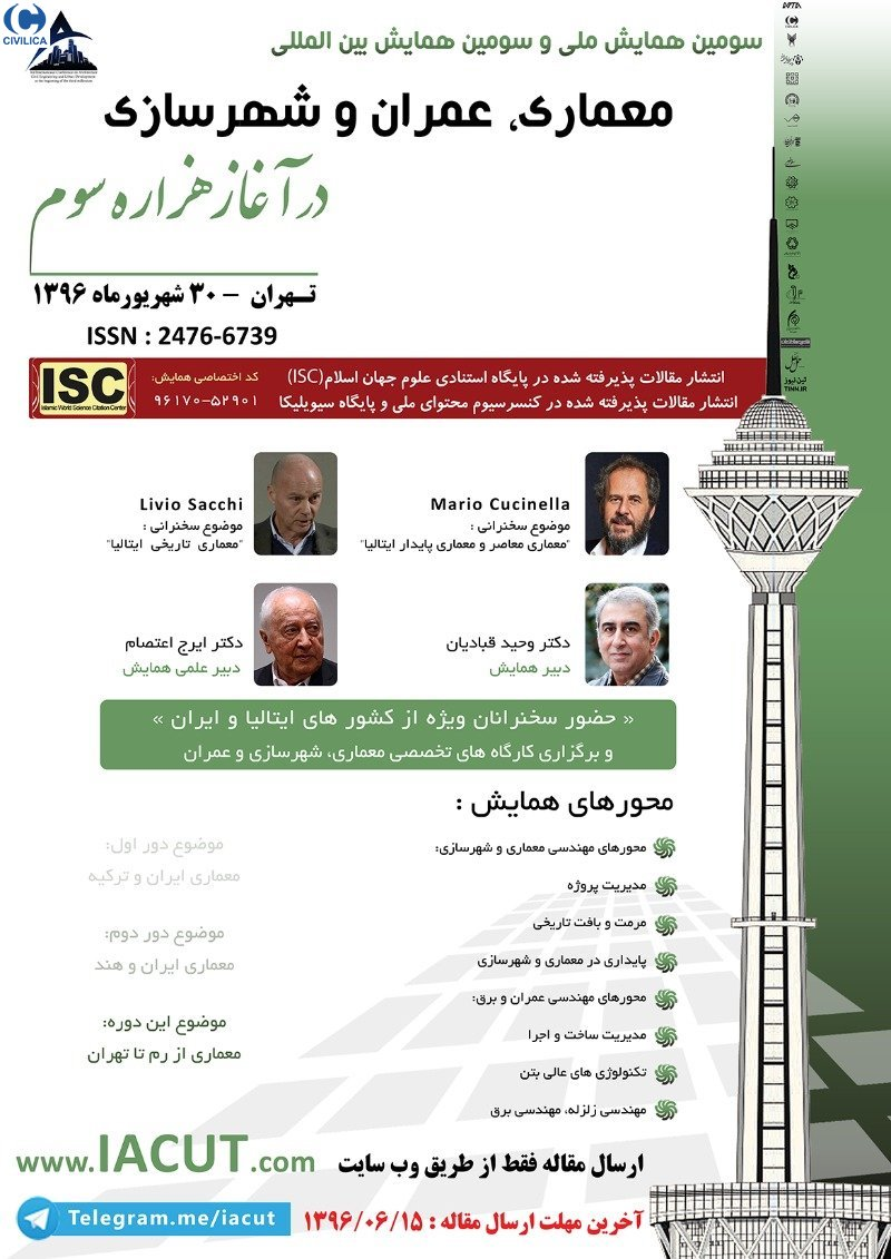 Poster of  International conference on architecture,civil and urban development at the beginning of the third millennium