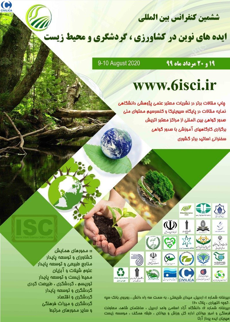 Poster of 6rd International Conference new ideas in Agriculture, Environment and Tourism