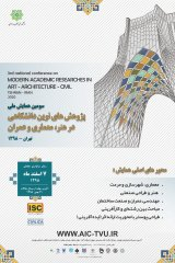 Poster of Third National Conference on Modern Academic Research in Art, Architecture and Civil Engineering