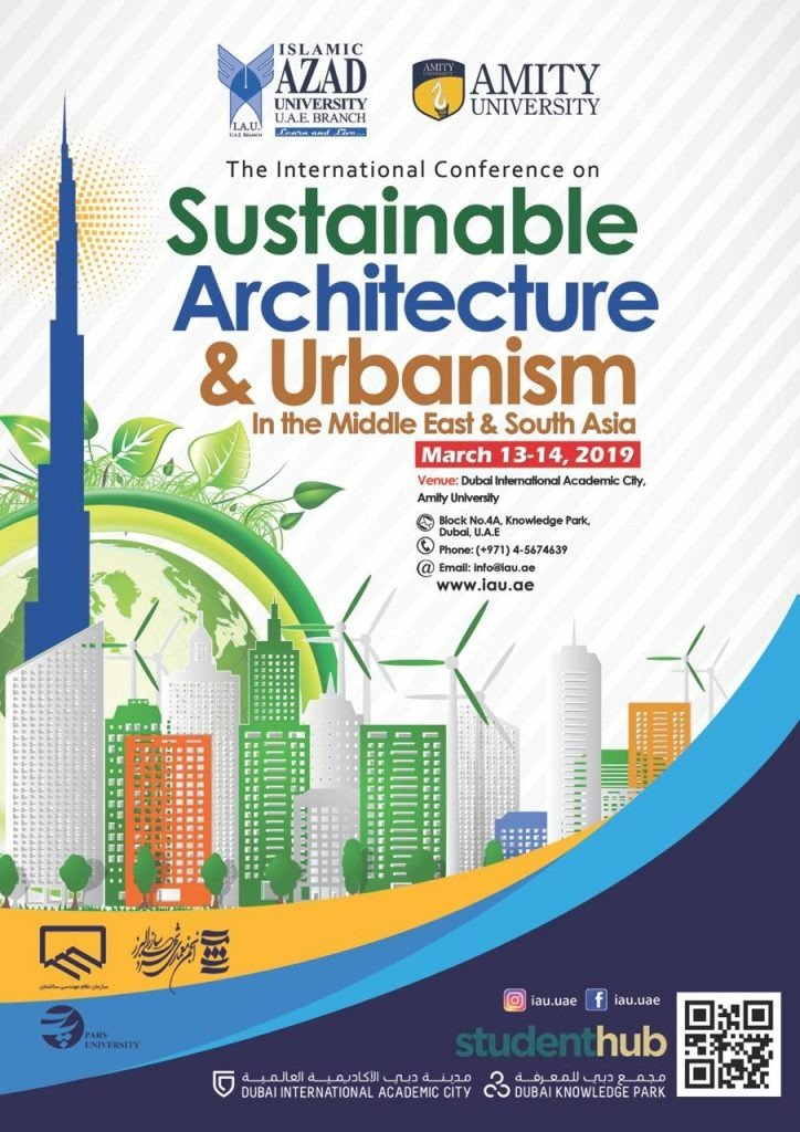 Poster of The 5th International Conference on Sustainable Architecture and Urbanism in the Middle East and South Asia