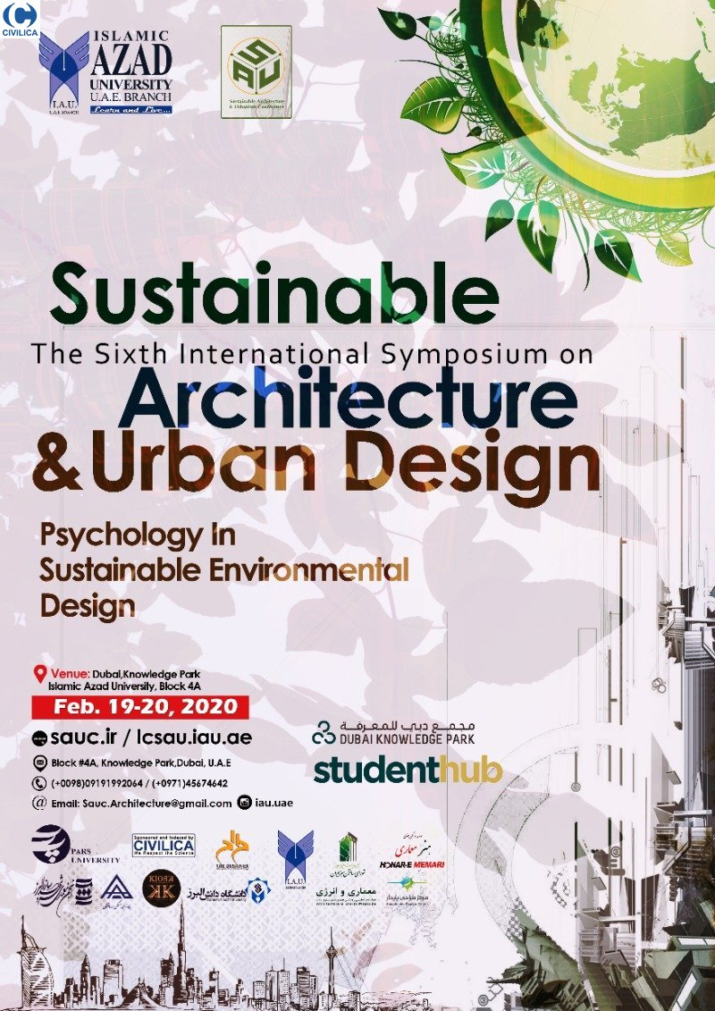 Poster of The 6th International Symposium on Sustainable Architecture & Urban Design – Psychology In Sustainable Environmental Design