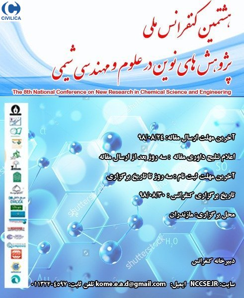 Poster of The 8th National Conference on New Research in Chemical Science and Engineering