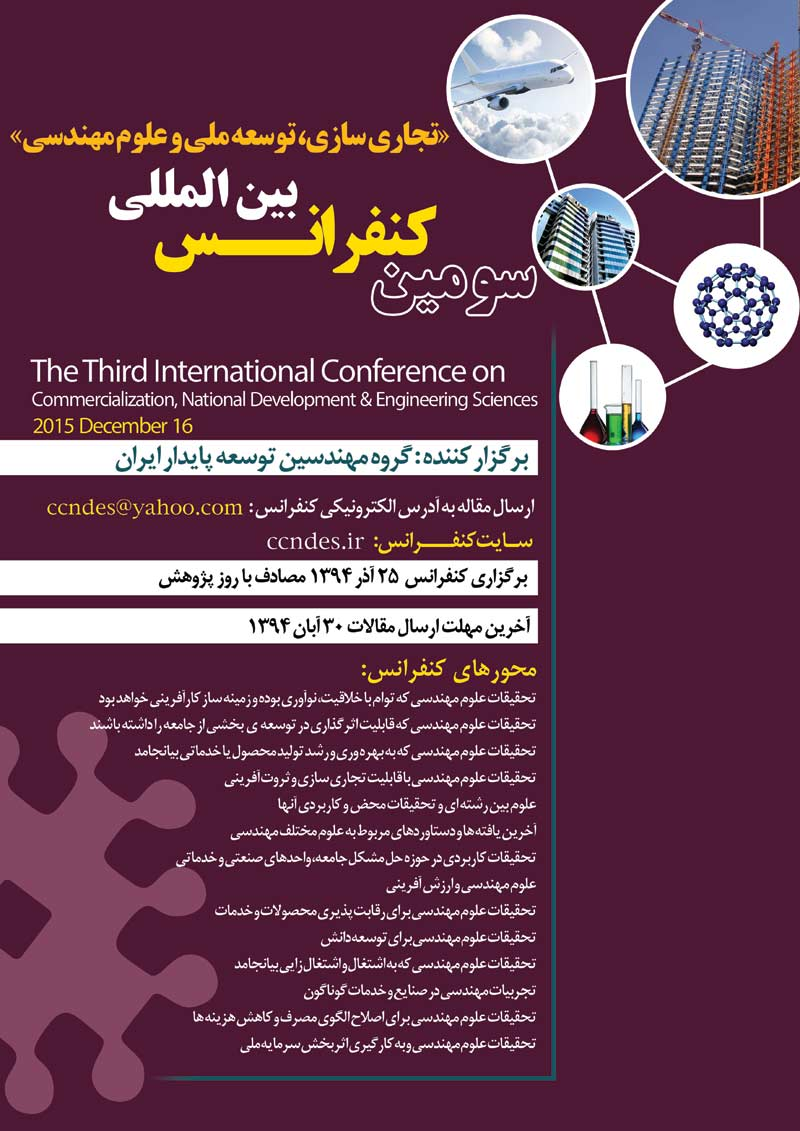Poster of The Third International Conference on Commercialization, National Development and Engineering Sciences