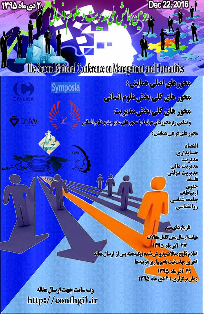 Poster of The second National Conference on Management and Humanities