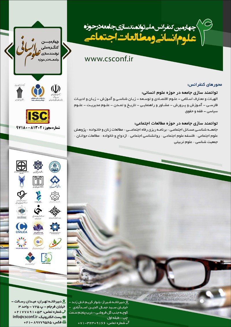 Poster of Fourth National Conference on Community Empowerment in the Field of Humanities and Social Studies