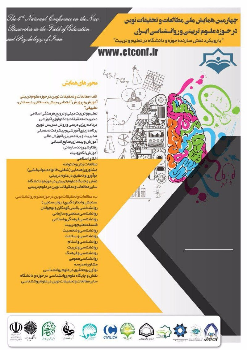 Poster of  The Forth National on the New Research and Studies in the Field of Education and Psychology Iran