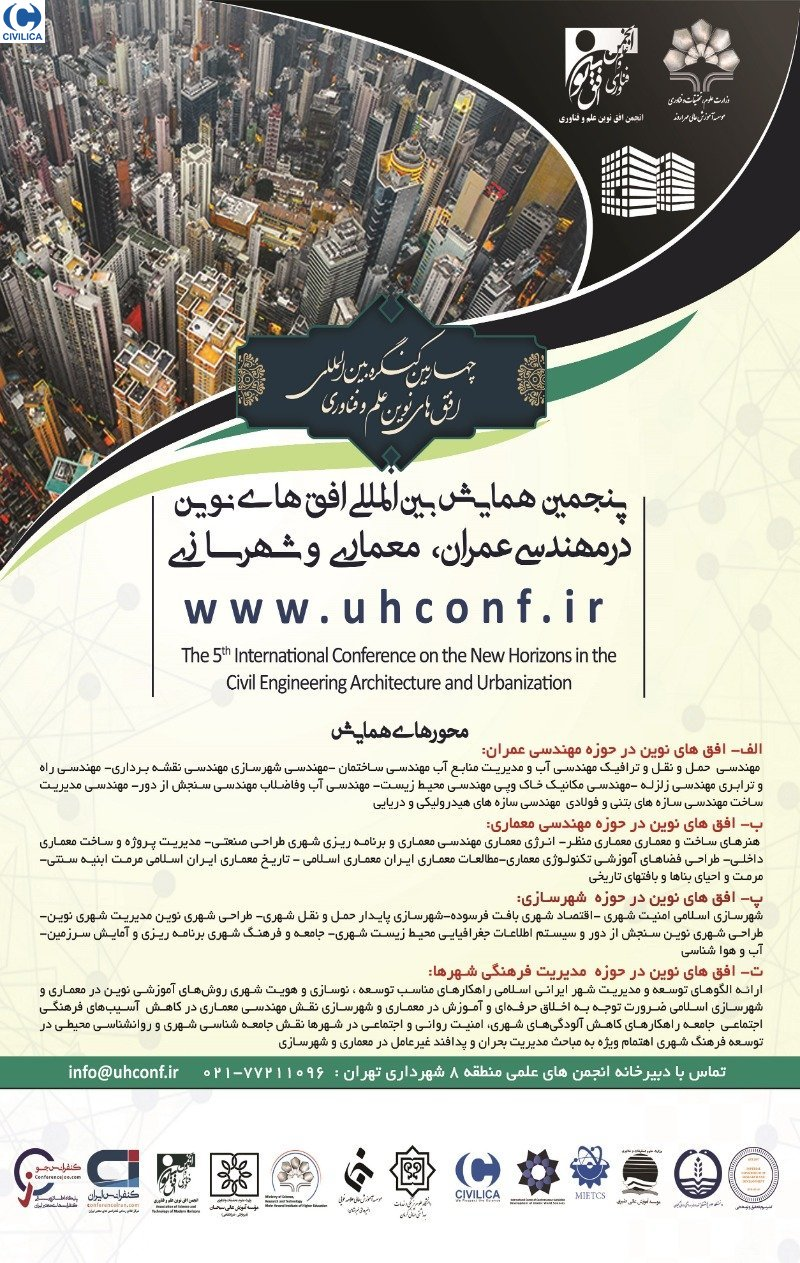 Poster of The 5th International Conference on The new Horizons in The Civil Engineering, Architecture and Urbanism