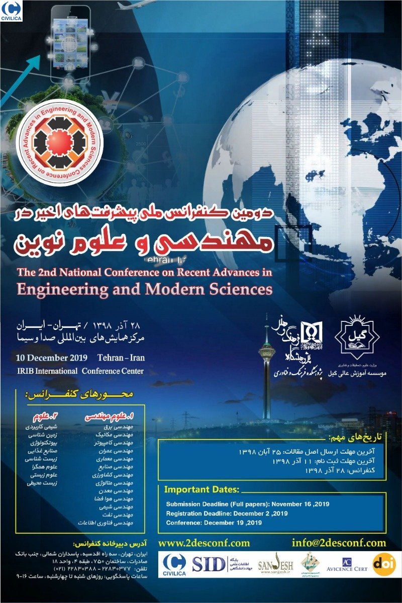 Poster of The 2nd National Conference on Recent Advances in Engineering and Modern Sciences