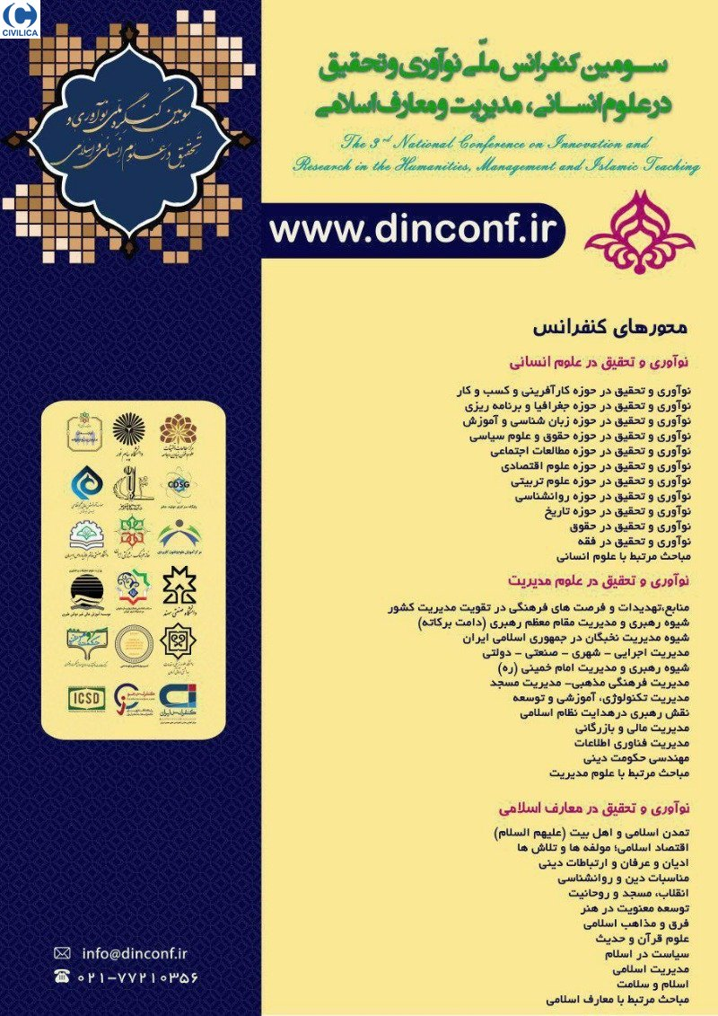 Poster of Third National Conference on Innovation and Research in the Humanities, Management and Islamic Studies
