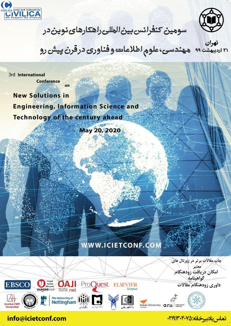 Poster of Third International Conference on New Solutions in Engineering, Information Science and Technology of the Century Ahead
