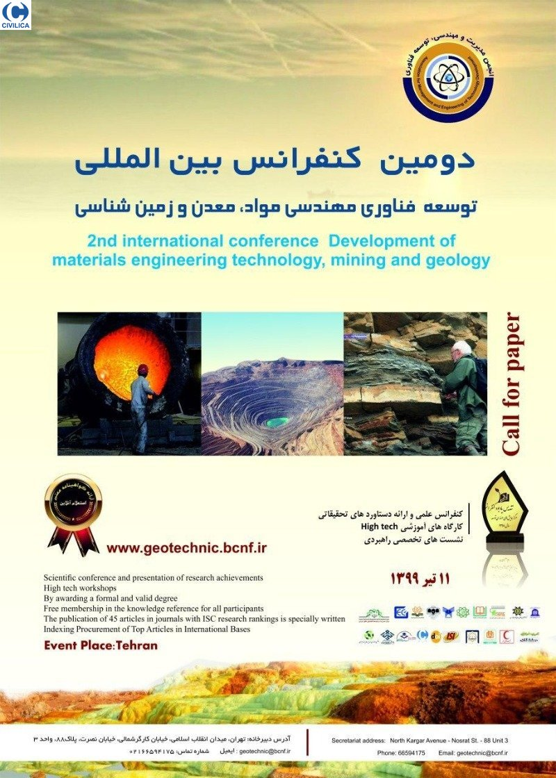 Poster of Second International Conference on Development of Materials Engineering Technology, Mining and Geology