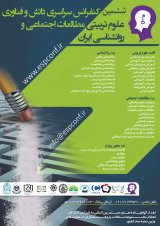 6th Iranian Conference of Science and Technology of Educational Sciences in Social Studies and Psychology