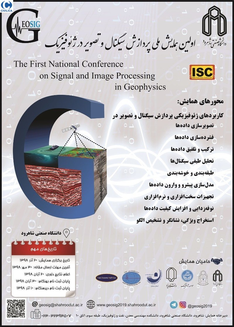 Poster of The First National Conference on Signal and Image Processing in Geophysics
