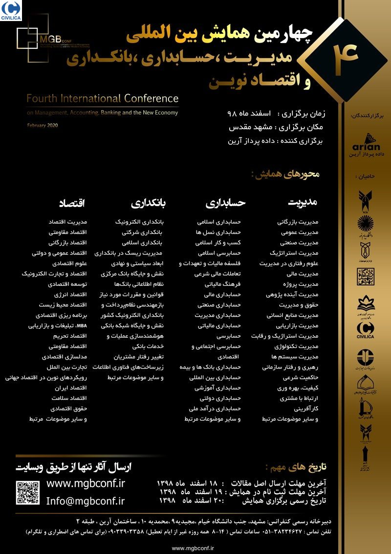 Poster of International Conference on Global Economy & Sanctions