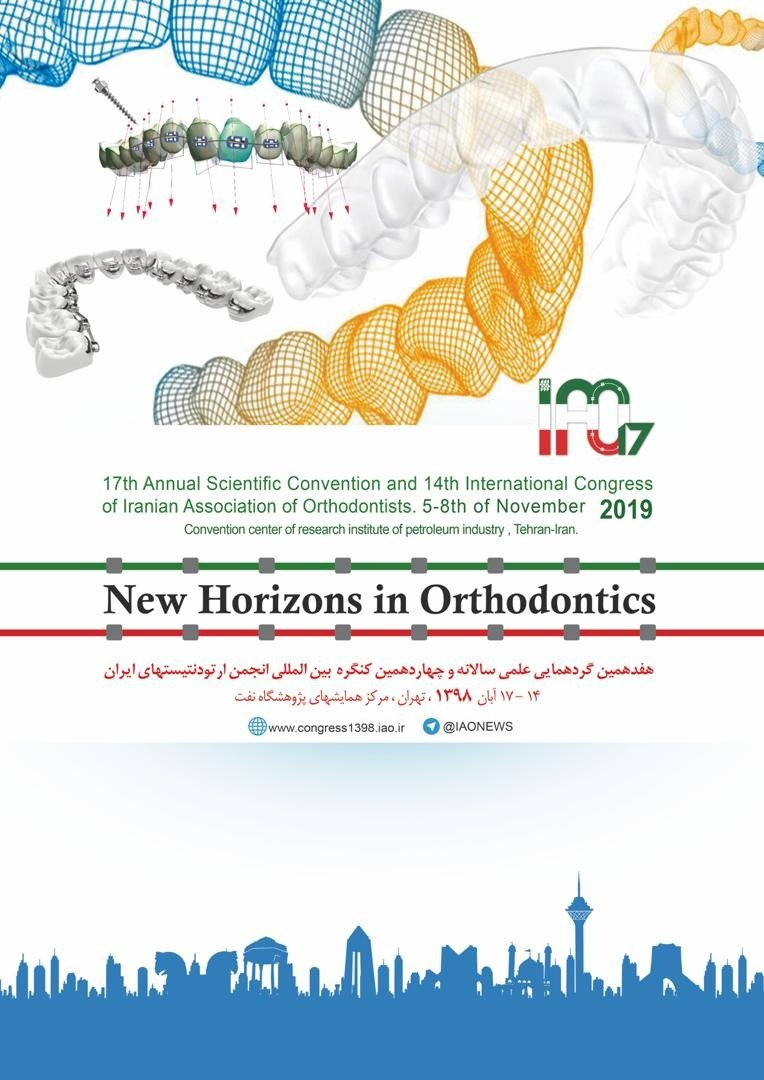 Poster of 17th annual scientific convention and 14th international congress of iranian association of orthodontists.5-8th of november 2019