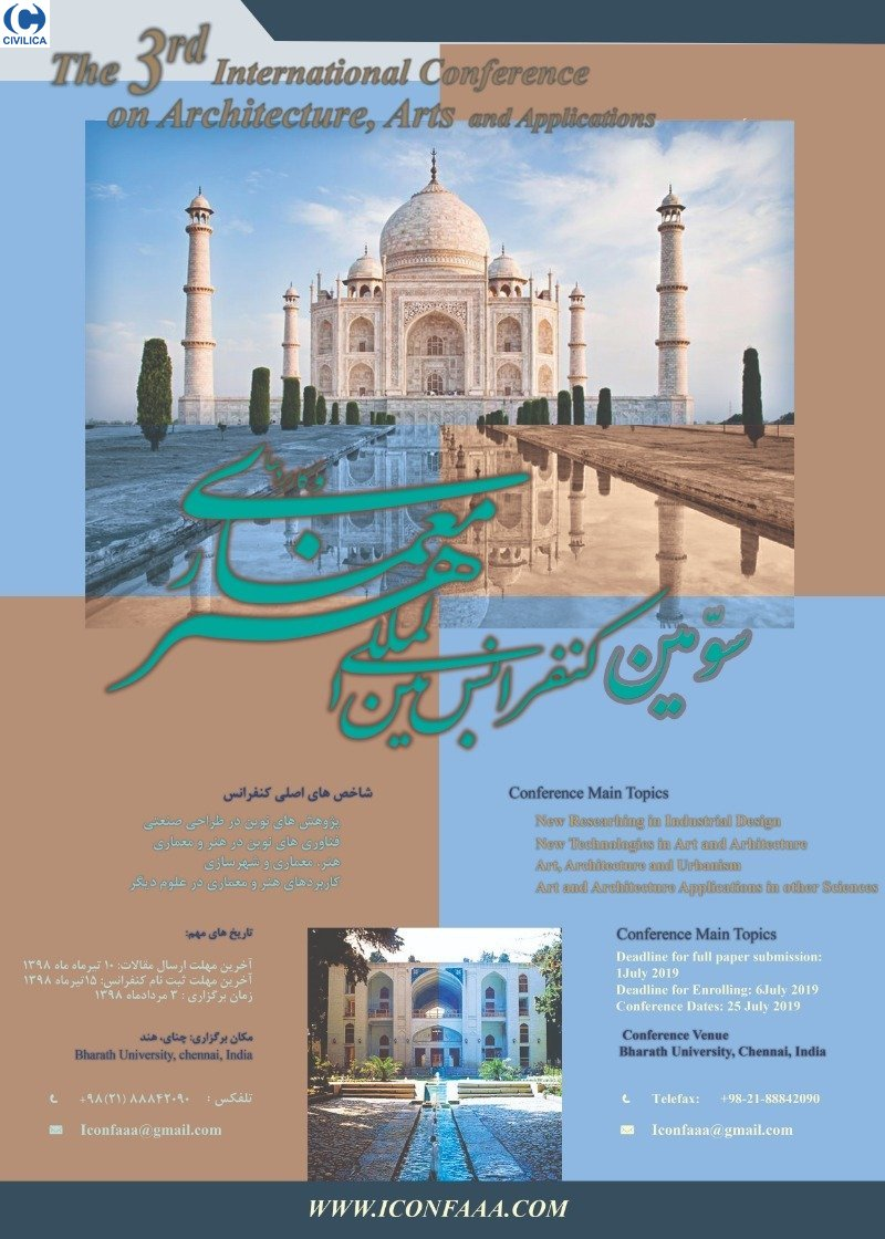 Poster of Third International Conference on Art, Architecture and Applications