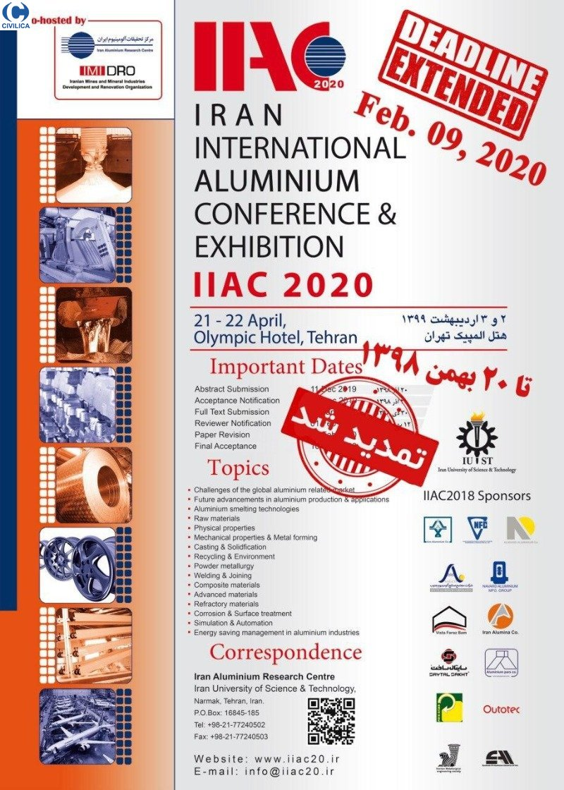 Poster of 6th Iran International Aluminium Conference & Exhibition