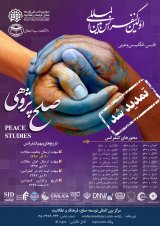 Poster of First International Peace Studies Conference