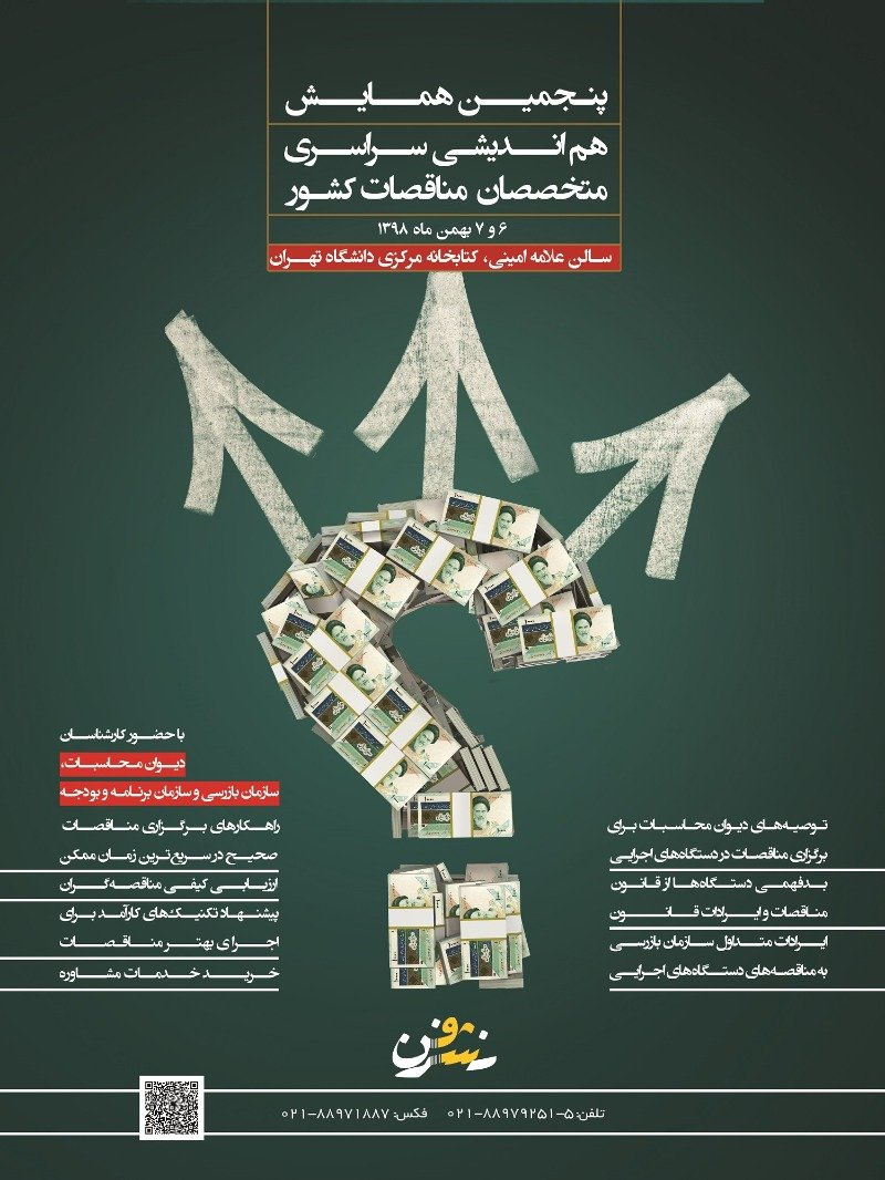 Poster of Fifth national symposium of bidding specialists