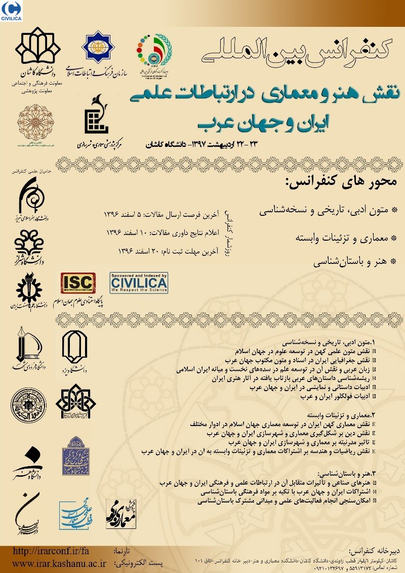 Poster of International Conference on the Role of Art and Architecture in Iranian and Arab World Scientific Relationships