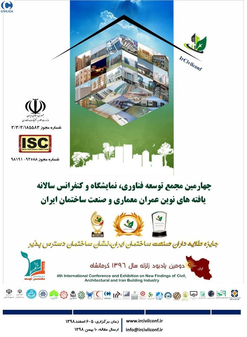 Poster of 4th International Conference and Exhibition on New Findings of Civil, Architectural and Iran Building Industry Ircivil 2019