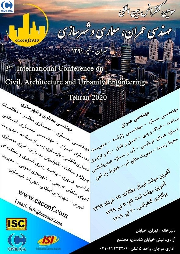 Poster of 3rd International Conference on Civil Engineering, Architecture and Urban Planning