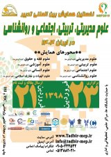 Poster of The First International Conference on Management of Management, Educational, Social, and Psychological Sciences on the Horizon of Iran 1404