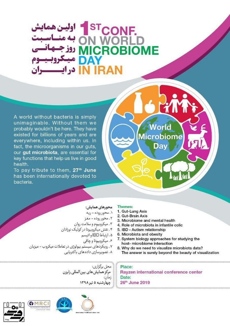 Poster of 1st conf on world microbiom day in iran