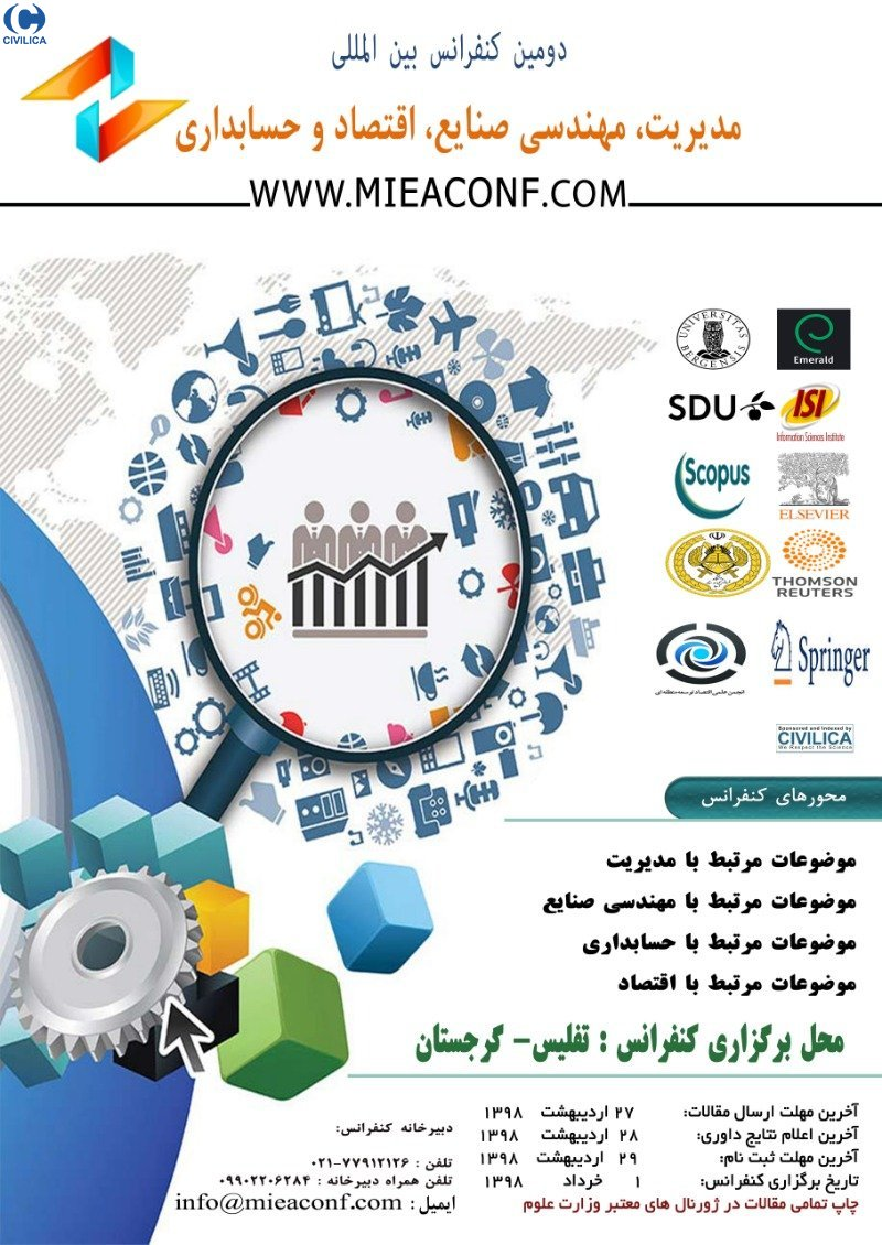 Poster of 2th international conference on management, industrial engineering, economics and accounting