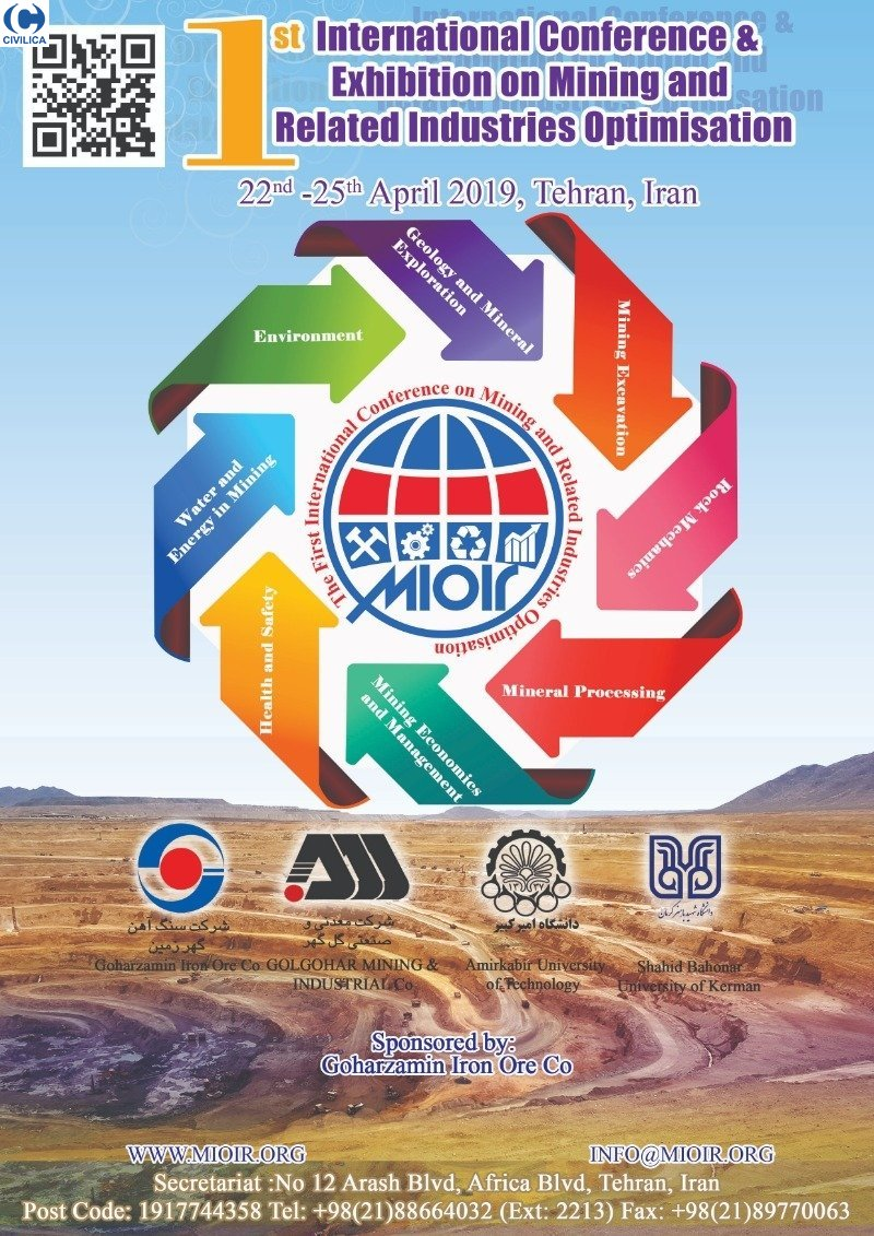 Poster of The First International Conference on Mining and Related Industries Optimisation