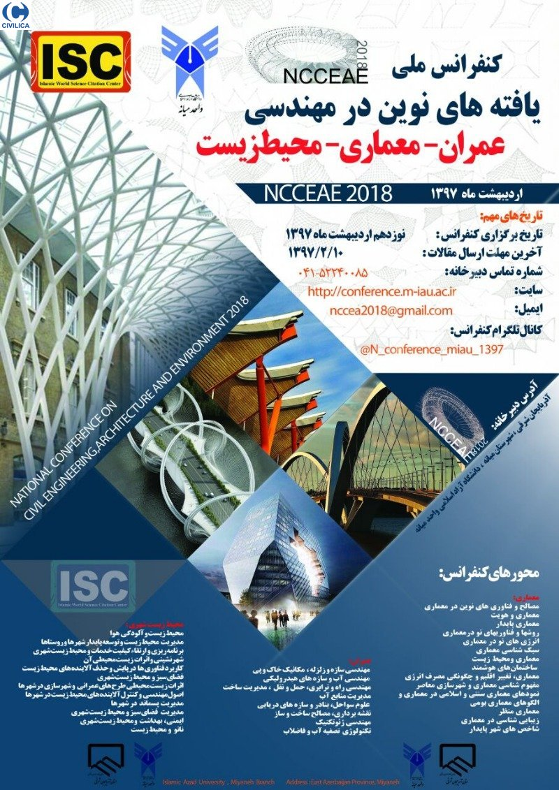 Poster of National Conference on Civil Engineering, Architecture and Environment