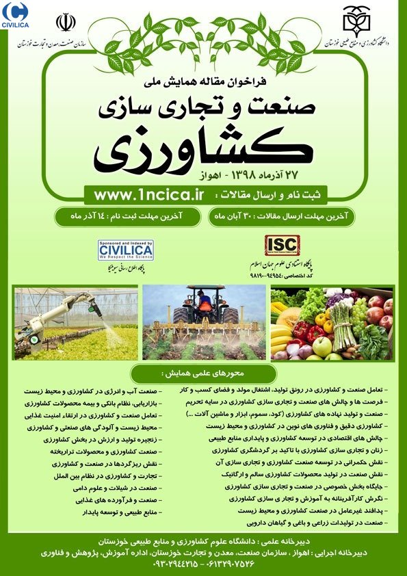 Poster of 1st National Conference on Industry and Commercialization of Agriculture