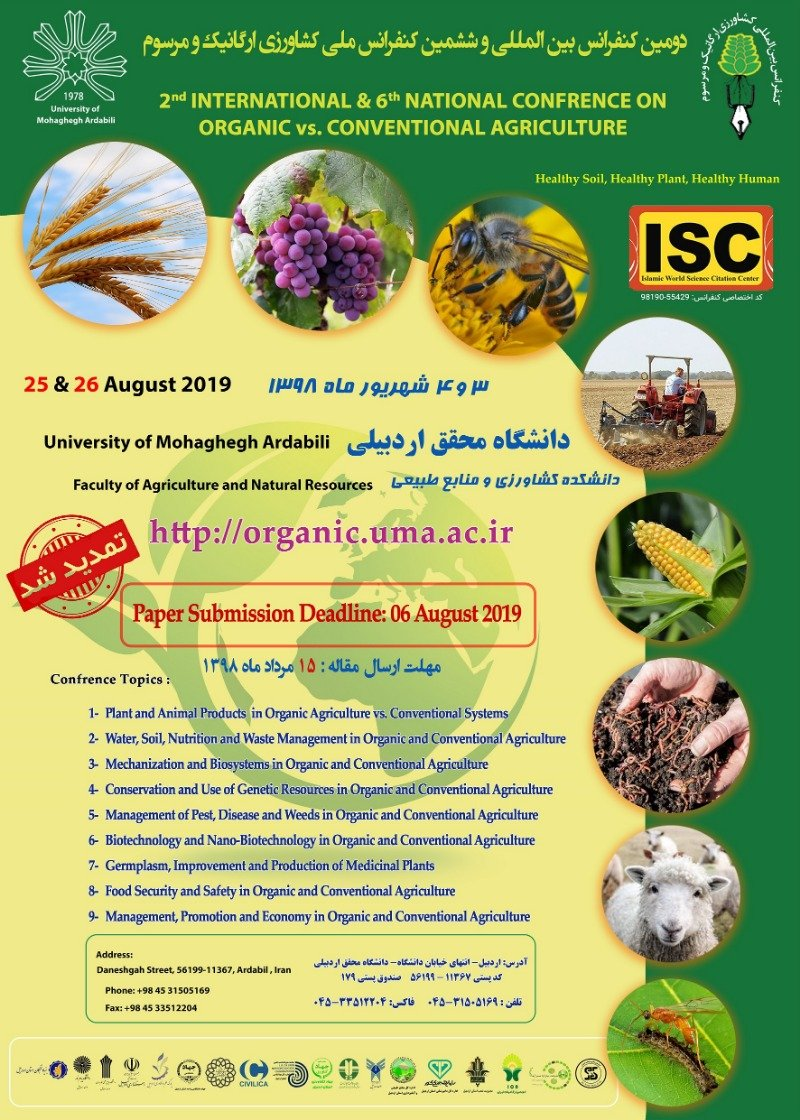 Poster of 2nd international & 6th national confrence on organic va. conventional agriculture
