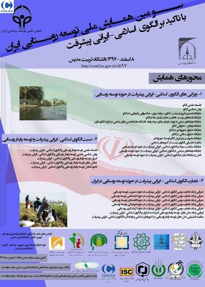 Poster of Third National Conference on Rural Development in Iran
