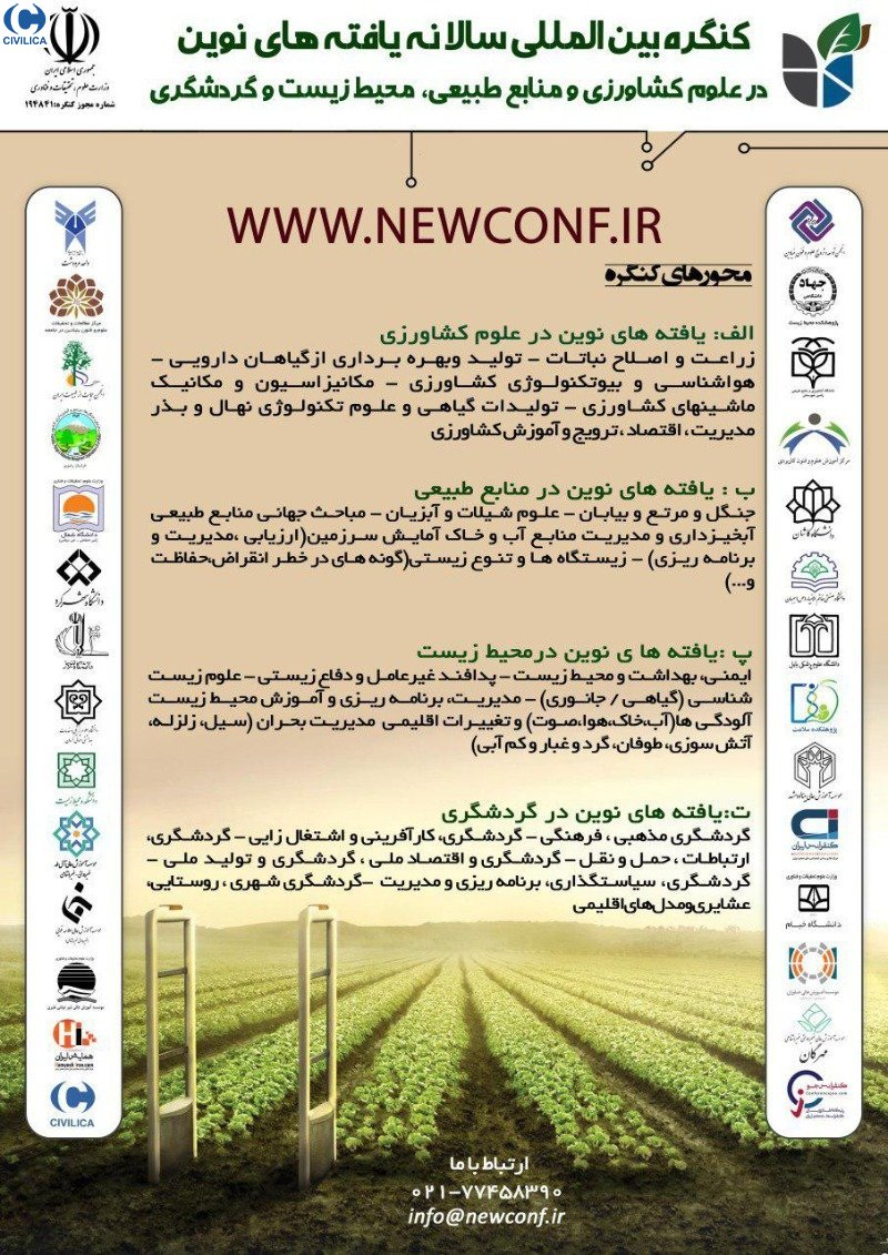 Poster of The Annual International Congress of New Findings in Agricultural and Natural Resources, Environment and Tourism