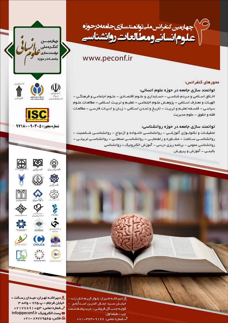 Poster of Fourth National Conference on Community Empowerment in the Humanities and Psychology Studies