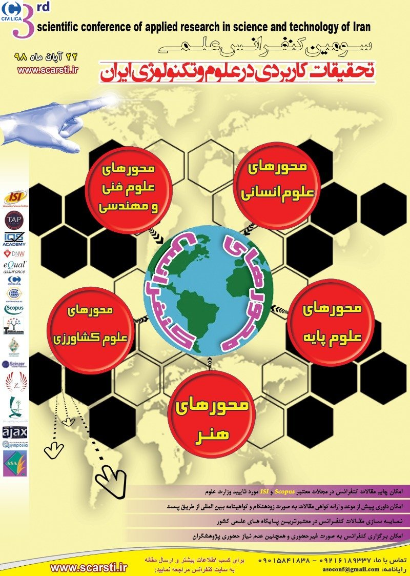 Poster of Third Scientific Research Conference on Applied Research in Iranian Science and Technology