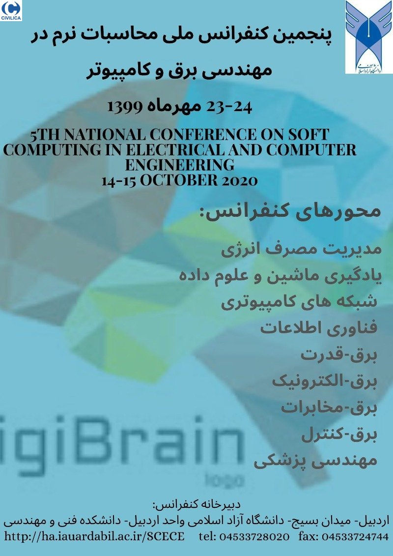 Poster of 5th National Conference on Soft Computing in Electrical and Computer Engineering