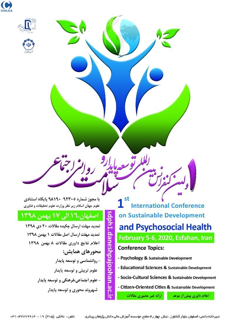 Poster of 1th International Conference on Sustainable Development and Psychology Health
