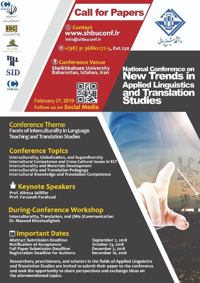 Poster of National Conference on New Approaches in Applied Linguistics and Translation Studies