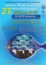 Poster of 27th updates on hot topics on  refractive surgery