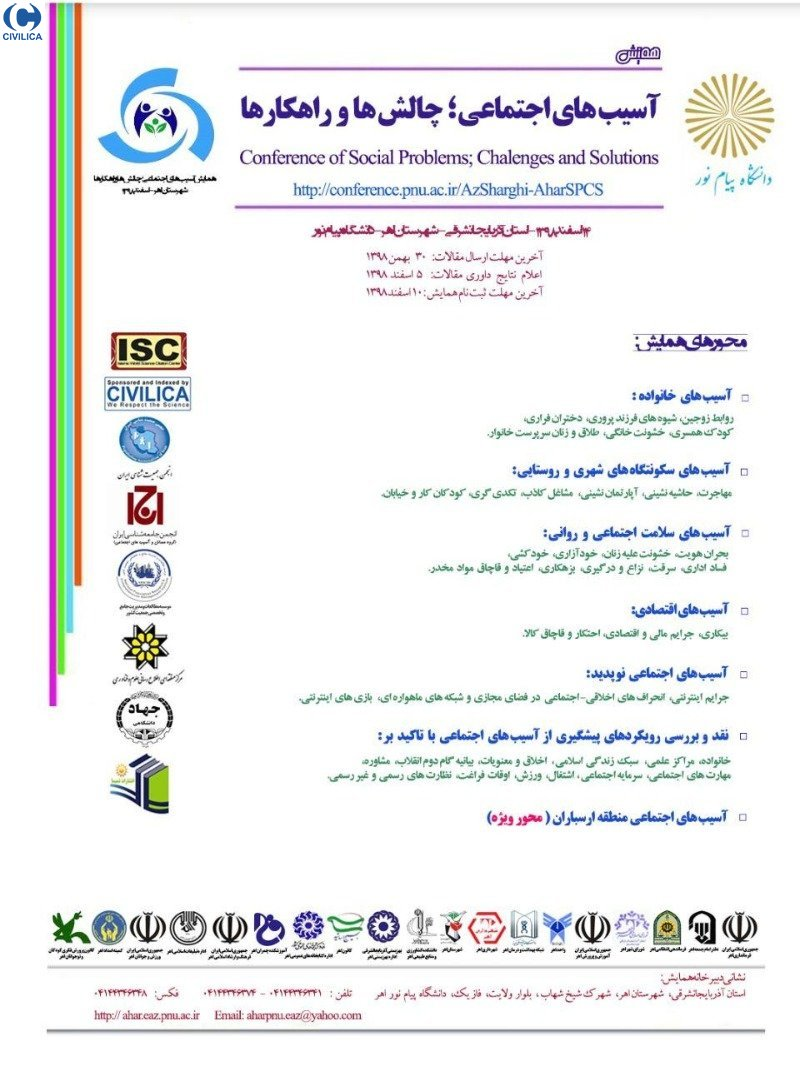 Poster of Conference on Social Injuries; Challenges and Solutions