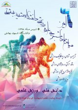 Poster of The 6th National Student Conference on Sport Sciences at Shahid Beheshti University