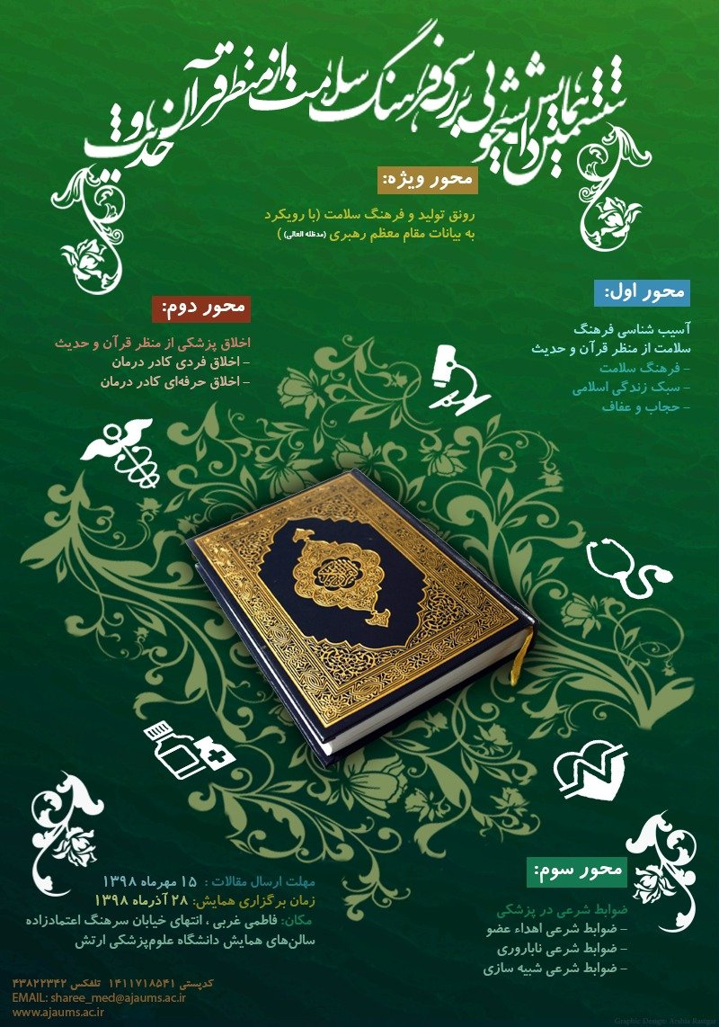 Poster of 6th Student Conference on Health Culture Review from the Perspective of Quran and Hadith