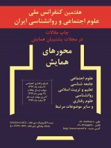 7th National Conference on Research in Social Sciences and Psychology of Iran