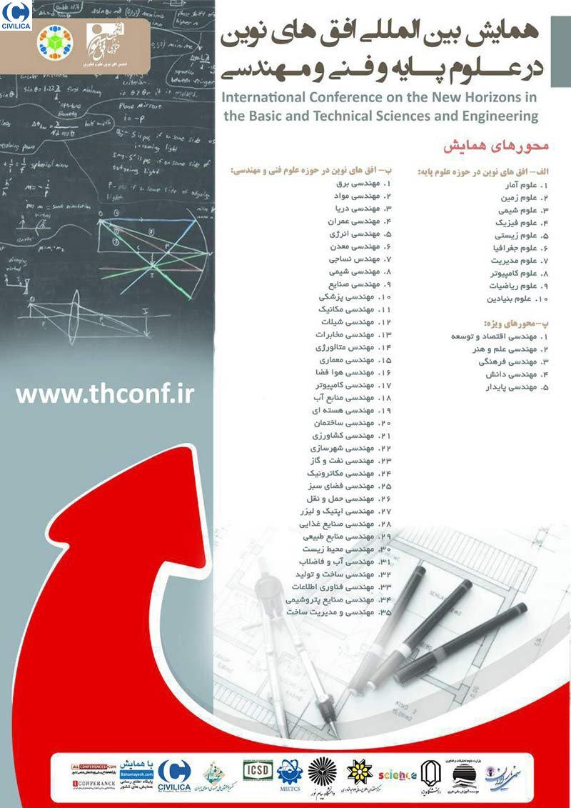 Poster of International Conference on the New Horizons in the Basic and Technical Sciences and Engineering
