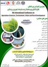 4th International Conference on Agriculture, Environment, Urban and Rural Development