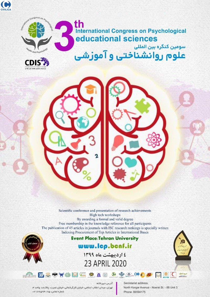 Poster of Third International Congress on Psychological and Educational Sciences