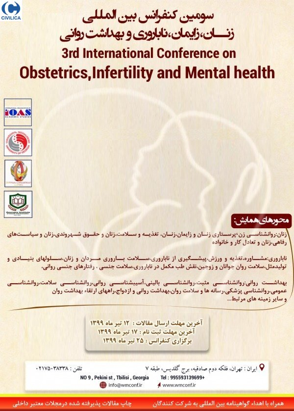Poster of 3rd international conference on obstetrics,infertility and mental health